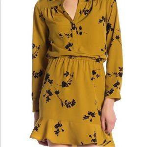Joie Acey Mini Dress in Goldenrod